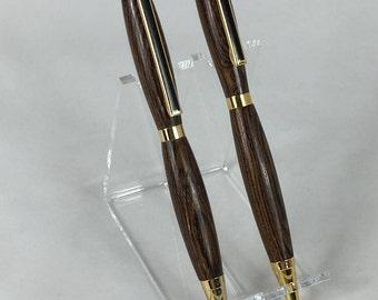 Bocote Handcrafted Wood Pen & Pencil Set #102 w/ Box