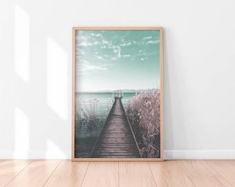 Beach Printable Art, Ocean Printable Poster, Ocean Wall Art, Beach Wall Art Printable, Ocean Wall Decor, Digital Print, Digital Download