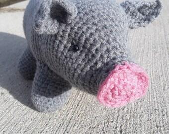 Piggy Smalls, Mini Pig, Crochet Pig, Pig, Mini Pig, Amigurumi, Amigurumi Pig, Softies, Baby Pig, Piggy, Stuffed Pig,