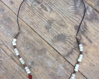 Honeycomb Venetian bead necklace