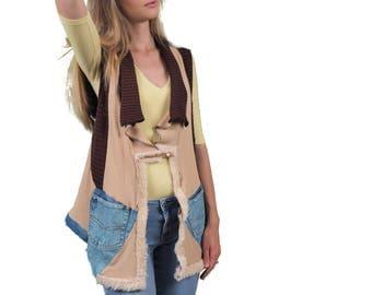 Wild Spirit upcycled unique-extravagant – oversized – Boho style – vest