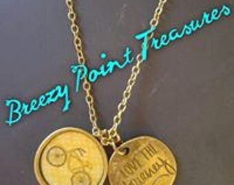 Love the Journey Bike Necklace