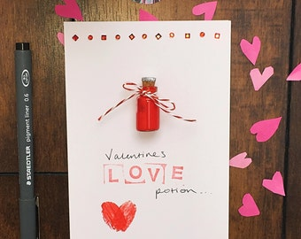 Valentines Card 'Cupids Love Potion'