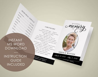 Memorial template etsy for In loving memory template free