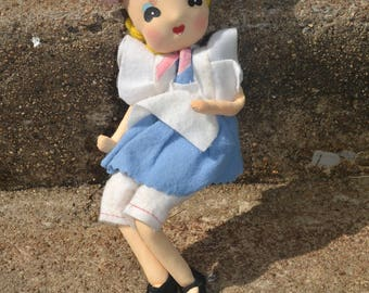 Vintage Poseable Stocking Stockinette Doll Japan