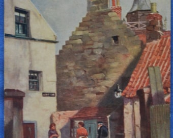 Tuck Oilette An Old Corner Stonehaven England UK Postcard Antique 1905