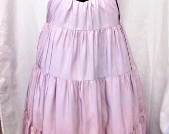Vintage 1950's Gown Long Dress Tiered Lavender Skirt Black Velvet Bodice Disney's Snow White Style