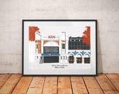 Brixton Ritzy Cinema Print / Brixton Landmarks / Cinema Art Print / London Architecture Print / Fathers Day Gift / Movie Lovers / Film Fan