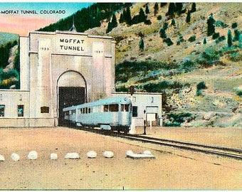 Vintage Colorado Postcard - Moffat Tunnel (Unused)