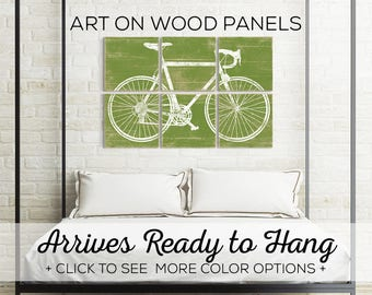 Mens Cyclist Gift - Large Bicycle Art - Large Bike Art - Best Cycling Gifts - Gift for Bicyclist - Large Bicycle Art - Bicycle Art Decor