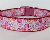 Candy Hearts Dog Collar / Valentine Dog Collar
