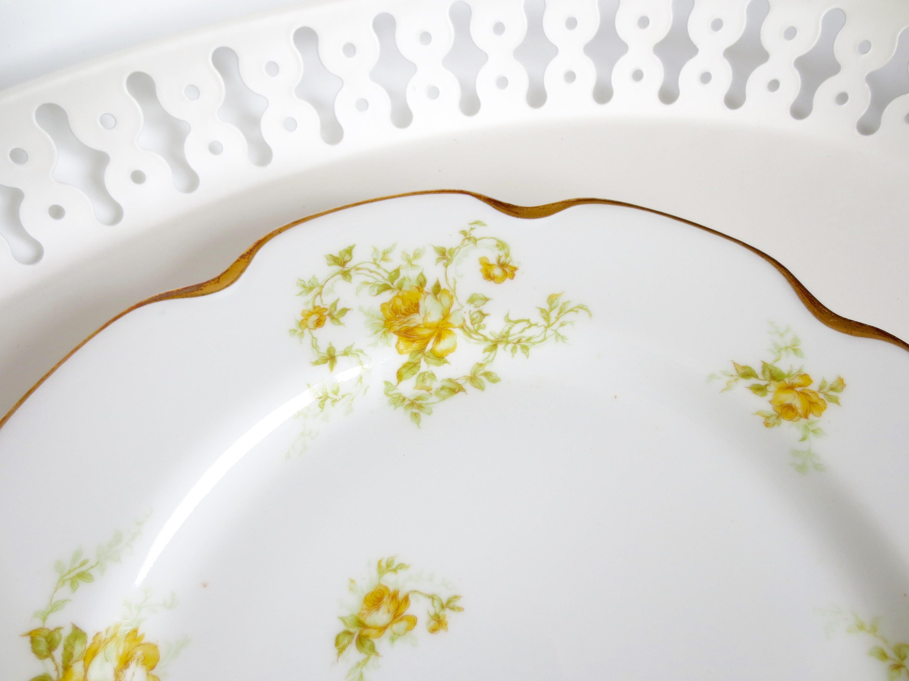 Haviland Limoges Dinner Plate Yellow Rose of Texas Decorative Shabby Chic Indianapolis Gold Trim China Pattern  sc 1 st  shopping for fashion trends Womens Mens and Kids Athletic Shoes ... & Haviland Limoges Dinner Plate Yellow Rose of Texas Decorative Shabby ...