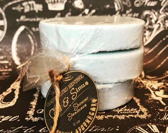 Cold and Sinus Shower Steamers-9 oz-bohemia apothecary-menthol shower steamer-camphor shower steamer-breath easy shower steamer