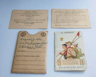Boy Scout, Set Pledge & ID Cards, Boy Scout Memorabilia, Keepsake Items