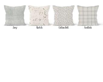 Beige Pillow Cover, Decorative Throw Pillow Covers, Euro Pillow Sham 16 x 16, 18 x 18, 20 x 20, 22 x 22, 24 x 24, 26 x 26