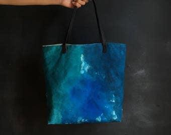 Canvas Tote, Canvas Bag, Handmade Tote, Watercolor Tote, Modern bag, Colorful Tote, Minimalist Tote, Waterproof Tote, Vegan Tote Bag