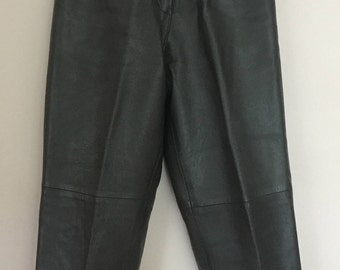 Perfect Vintage High Waist Leather Trousers