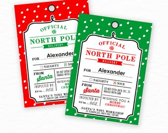 Editable Christmas Gift Tags, Christmas Printables, Christmas Labels, Gift Label, Special Delivery From North Pole, Christmas Printable