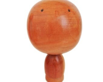 Rare Vintage Woodgrain Kokeshi Doll by Award Winning Artist. Sosaku Kokeshi Doll. Modern Woodgrain Kokeshi. Japanese Doll.  Kindai Kokeshi.