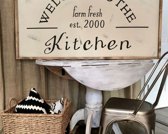 24x48 Farmhouse Decor, Farmhouse Sign, Wooden Sign, Fixer Upper Decor, Farmhouse Kitchen Sign,  Kitchen Sign, Fixer Upper Kitchen