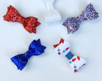 4th of July Glitter Bows | Fourth of July Glitter Bow | 4th Of July Headband | 4th Of July Glitter Bow Headband | 4th Of July Bow | Bomb Pop