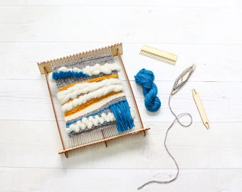 Pop-up Weaving Loom, Weaving Kit, Woven Wall Hanging, Boho Decor, Wall Hanging, Woven Wall Art, Loom Patterns, Wall Tapestry, Loom
