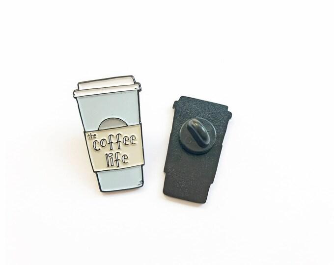 Coffee Pin Black