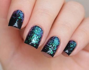 Iridescent mermaid flakes/ Nail art flakes/ Iridescent nail flakes/ Nail decorations/ Nail art supplies/ Nails/ Nail art