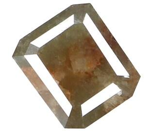 1.17 Ct Natural Loose Diamond Emerald Grey Green Color 6.85X5.70X2.92 MM K3226