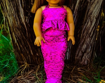 18 inch doll Mermaid Tail & Top