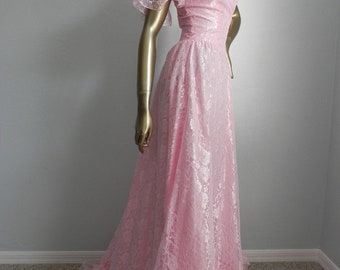 give good lace ~ pink lace ball gown