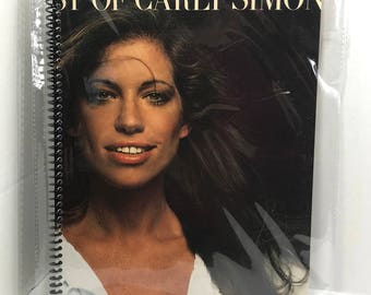Carly Simon Album Cover Notebook Handmade Spiral Journal