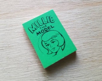 1966 Millie the Model Marvel Mini Book Green
