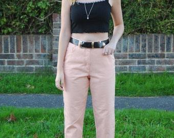 90s Vintage Peach High Waisted Denim Mom Jeans