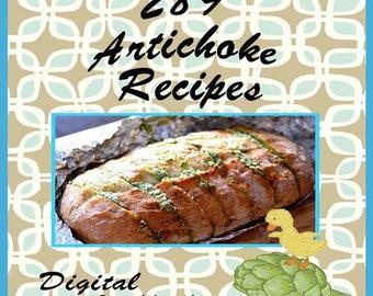 289 Artichoke Recipes E-Book Cookbook Digital Download