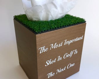 Golf Gift Home Decor - Golf Bathroom Tissue Box - Golf Home Decor - Golf Gifts for Wife - Golf Gifts for Men - Golfer Gift - Golfer Gifts
