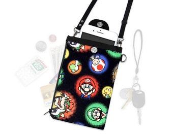 Nintendo Super Mario Bowser Crossbody Bag Phone Case Wallet Travel Wallet iPhone  Samsung Vacation Wallet Crossbody Purse Adjustable Strap
