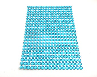 Blue Self Adhesive Stick-On Rhinestones/Gems/Jewels/Acrylic Gems/Bling | 4mm | 396 Count | Craft Supplies | ShimmerWorks