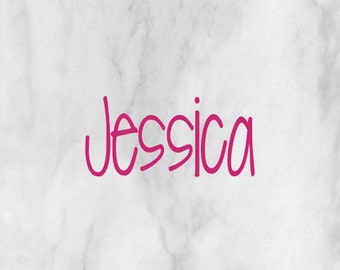 Custom Name Decal Choose Font