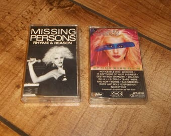 Missing Persons - Cassette Tape Set, Spring Session M, Rhyme and Reason, New Wave Classic for your Sony Walkman Cassettes, Words