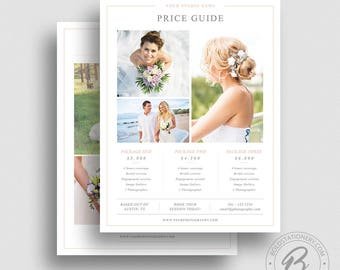 Photography Pricing Template - Photography Pricing Guide - Price List Template - Photography Sell Sheet - Wedding Photography Pricing