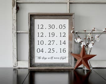The Best Days of Our Lives Farmhouse Sign, Wedding Anniversary Gift, Anniversary Gifts, Wedding Gift, Gift for Her Anniversary Gift for Wife