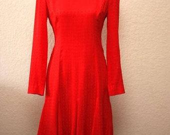 Vintage Liz Claiborne Red Dress