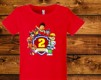 sale Paw Patrol Shirt Personalized Paw Patrol Birthday Shirt Add Name & AGE GIFT FAVORS Custom Paw Patrol TShirts.