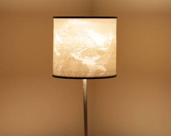 3D Printed Lithophane Mountain Scene Lampshade