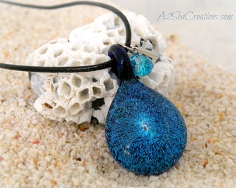 Mermaid 'Magic' Glass Pendant - Cobalt Blue Jewelry