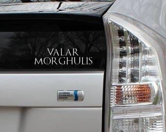 Valar Morghulis Game of Thrones Vinyl Die Cut Decal Bumper Sticker Car Laptop Bike