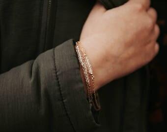 Dainty Beaded Quartz Bracelet, Beaded Bracelet, Gold Bracelet, Minimal Bracelet, Gemstone Bracelet, Quartz Beaded Bracelet