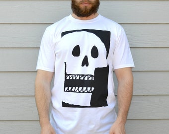 T-Shirts Graphic Tees Skulls Mens Tshirt Gift For Guys T-shirt Skull Print Graphic T-Shirts Gift For Man Funny Tshirts Mens Tee