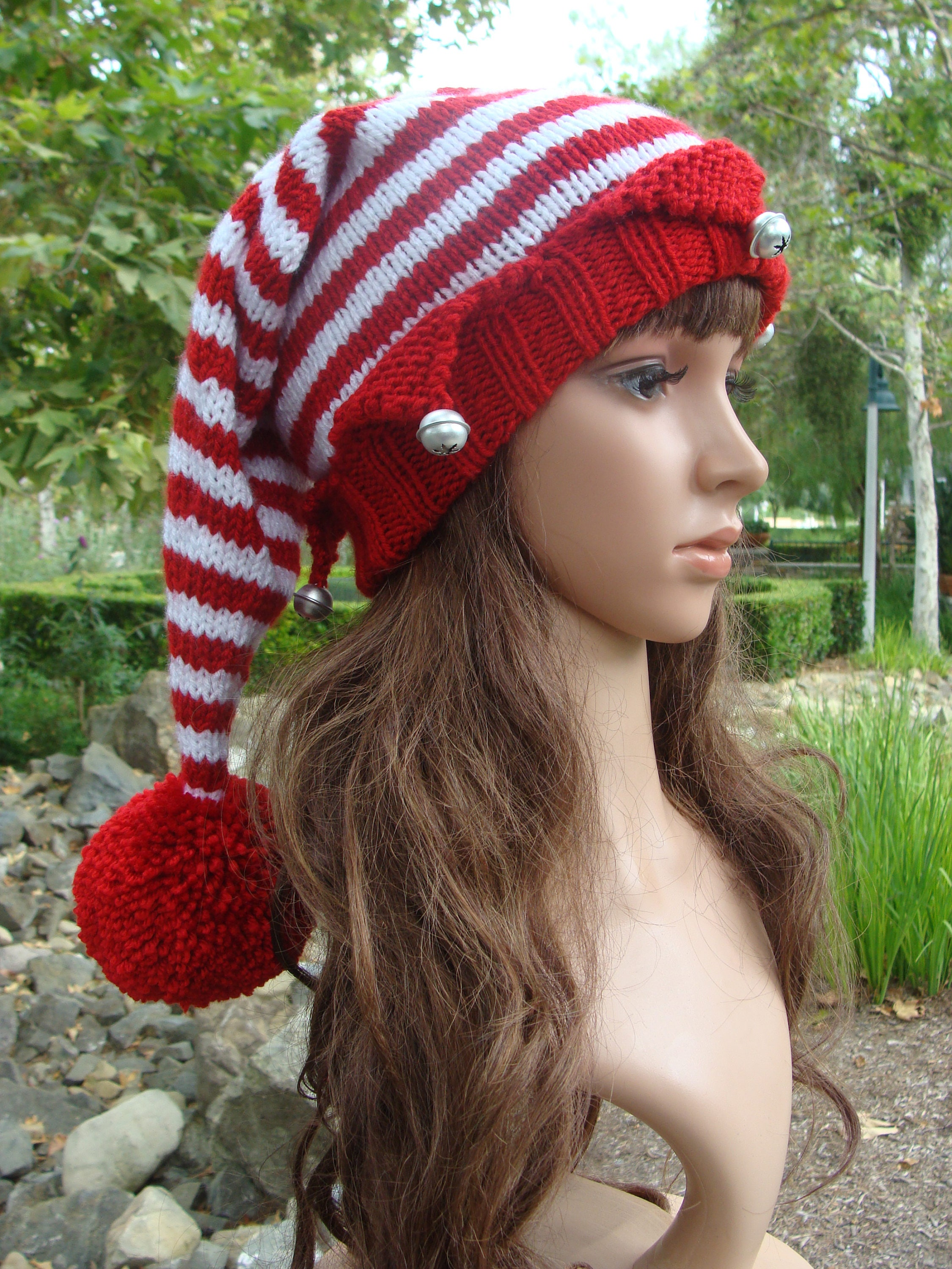 DIY Knitting PATTERN 168: Santa's Elf Knit Hat with